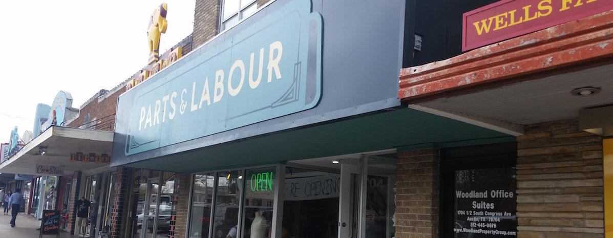 Retail store Parts & Labour moved next door to Big Top Candy Shop on South Congress Avenue.