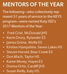 Annual district Mentors of the Year recognized