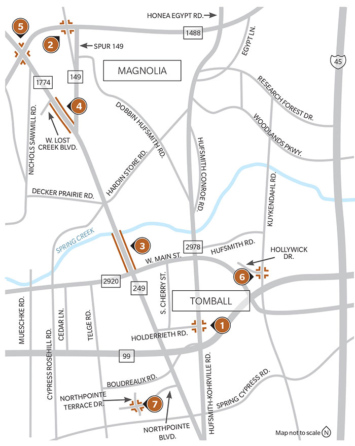 7 Transportation Projects Underway In Tomball And Magnolia