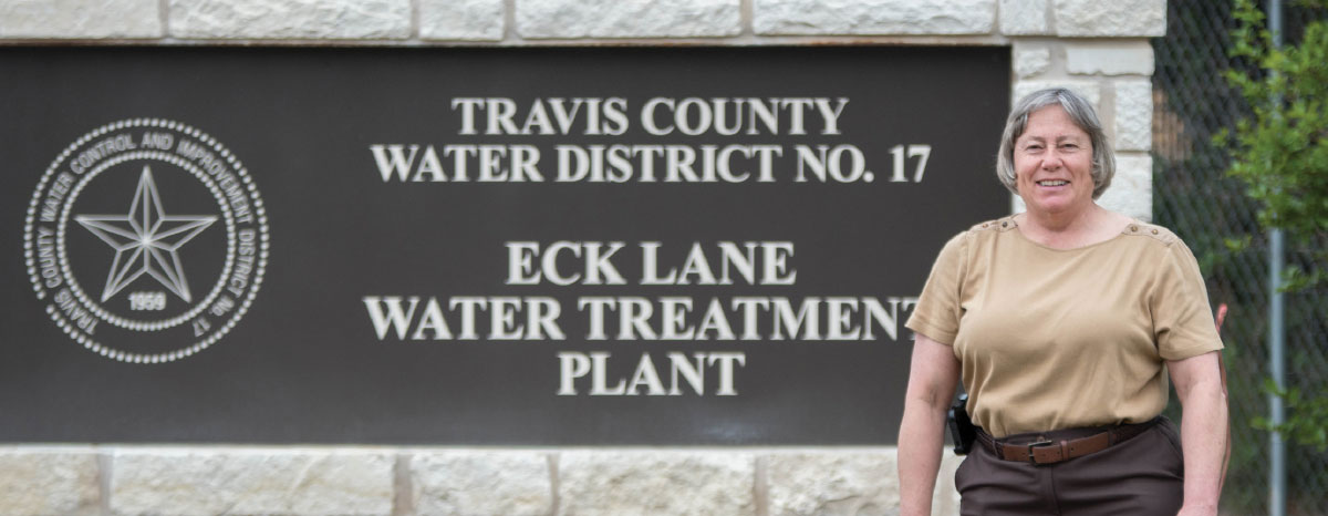 General Manager Debbie Gernes sits at the helm of Travis County Water Control & Improvement District No. 17.