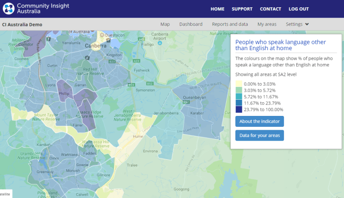 Dec update - South Canberra - People who speak a language other than English at home.png