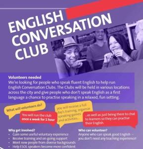 conversation club flier