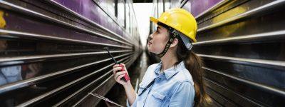 female rail engineer