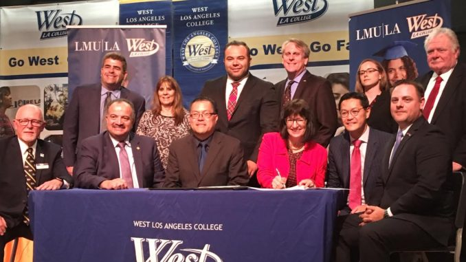 WLAC and LMU - LMU and West Los Angeles College Sign Transfer Admissions Pact for New Business Pathway