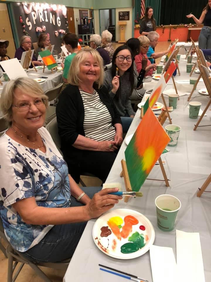 PAP April - LMU Students Host Paint and Pour for Seniors