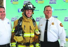 NASCAR driver learns skills it takes to be a firefighter