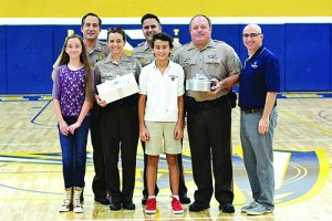 PTS 8th graders thank village police officers