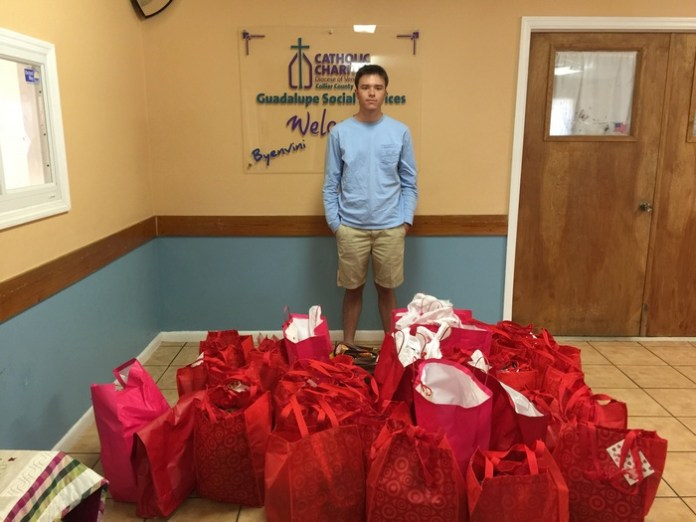 Riviera Prep's Key Club takes 'bags of love' to Immokalee