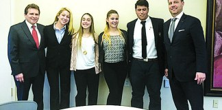 St. Brendan High School Law Club participates in mock mediation