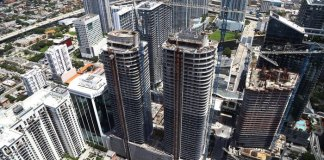 Moss & Associates celebrates external structure completion at Brickell Heights