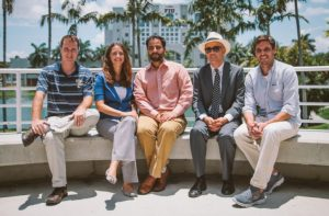 From left, psychologist Anthony Dick, physicist Angie Laird, psychologist Raul Gonzalez, public health expert Eric Wagner and neuroscientist Matthew Sutherland are part of a 14-member team from FIU that will contribute to the ABCD research study.