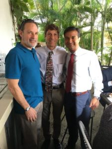 (From l-r) Marshall Steingold, District 3 School Board Member Martin Karp, and Congressman Carlos Curbelo.