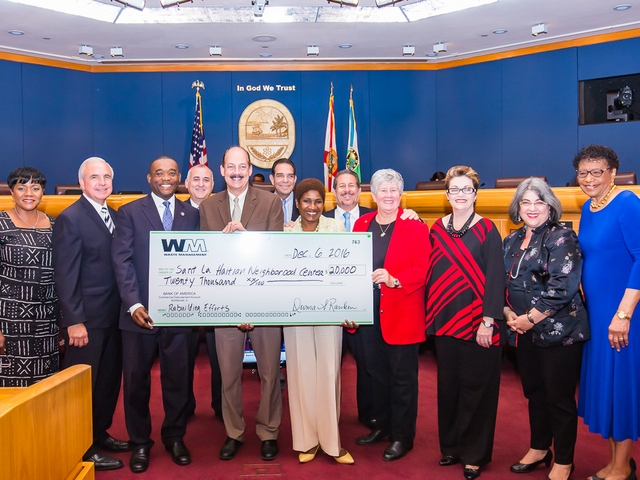Waste Management contributes $50,000 to two charities helping rebuilding in Haiti