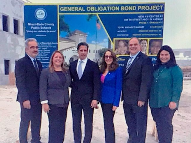 Miami-Dade County Schools hosts topping-off event at Doral K-8 Center
