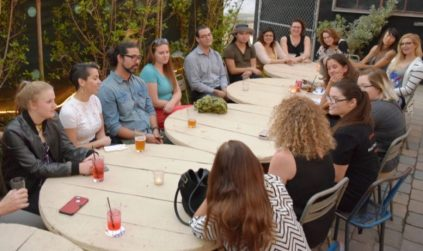 Activists, educators, students, and scientists gather in Wynwood at a recent organizational meeting for the March For Science Miami, including members of the Women's March Miami who are supporting the event.