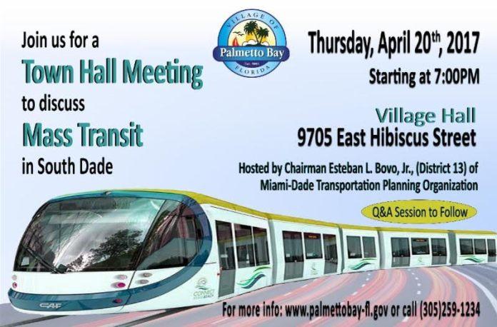 palmetto bay town hall meeting mass transit-min