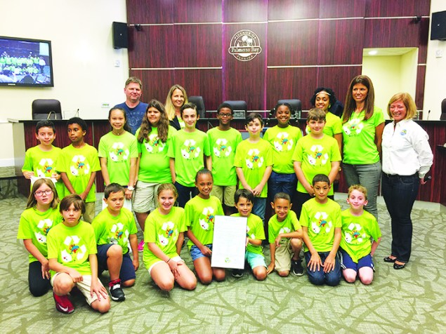 Coral Reef Elementary students receive council proclamation