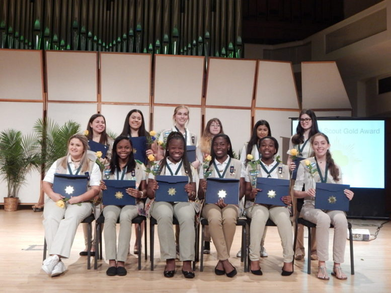 Local Girl Scouts take action,earn prestigious Gold Award