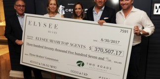 Two Roads Development honors Elysee Miami's top-selling brokers