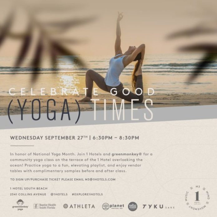 National Yoga Month at 1 Hotel South Beach-min