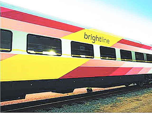 Fifth Brightline trainset joining state's new passenger service