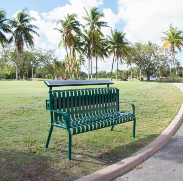 Golfers can get a charge out of solar bench at Granada Course