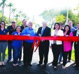 City makes big splash inaugurating canal stabilization and new bike path