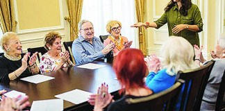 Palace residents embrace Yiddish for anti-aging and keeping their heritage