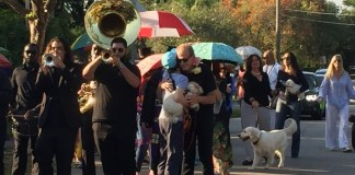 Beloved High Pines pooch gets a New Orleans-style sendoff