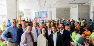 East End Capital and The Related Group celebrate topping off of Wynwood 25.