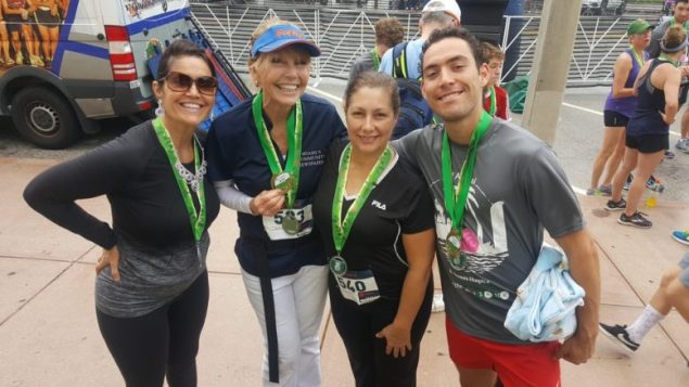 Miami's Community Newspapers' team performed well at the Coral Gables Chamber's Doctors Hospital 23rd annual Tour of the Gables 5K/10K. Pictured are team members (l-r): Amy Donner, Gloria Burns, Denise Cebrero and Bryce Donner.
