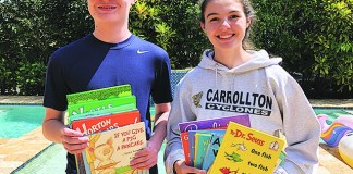 Children collect thousands of books for community