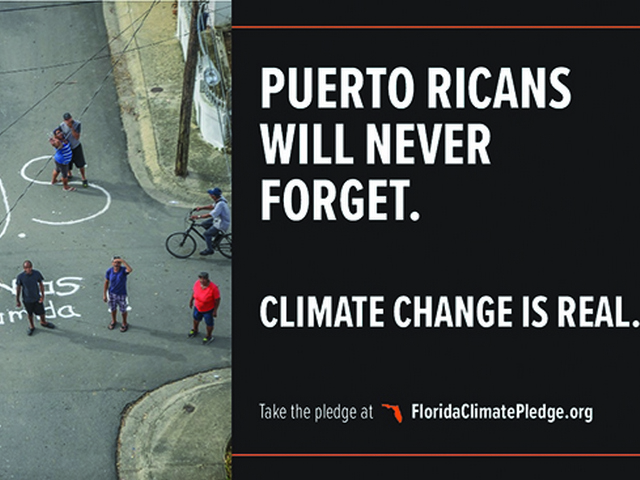 Florida Climate Pledge launches powerful billboard campaign in Florida