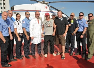 Keys visitor survives heart attack thanks to UHealth Helicopter Cardiac Rescue Program