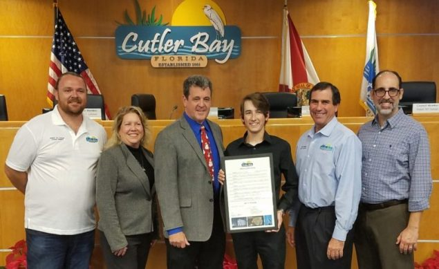 Cutler Bay High senior honored for aiding boaters in distress