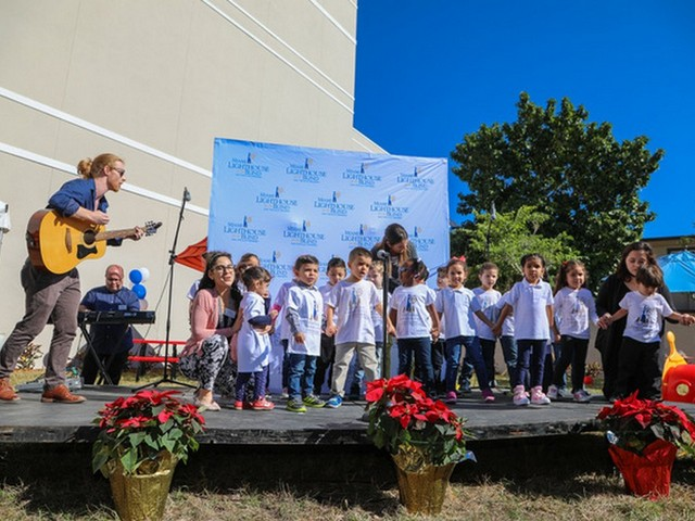 Miami Lighthouse dedicates playground, honors Charles and Olga Nielson Family