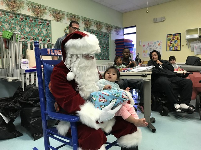 Homestead-Miami Speedway spreads holiday cheer at child care facilities