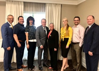 Aventura Marketing Council/Chamber of Commerce Board meets with Hallandale Beach Mayor Joy Adams at Hampton Inn