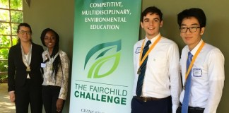 Students debate environmental issues during Fairchild Challenge