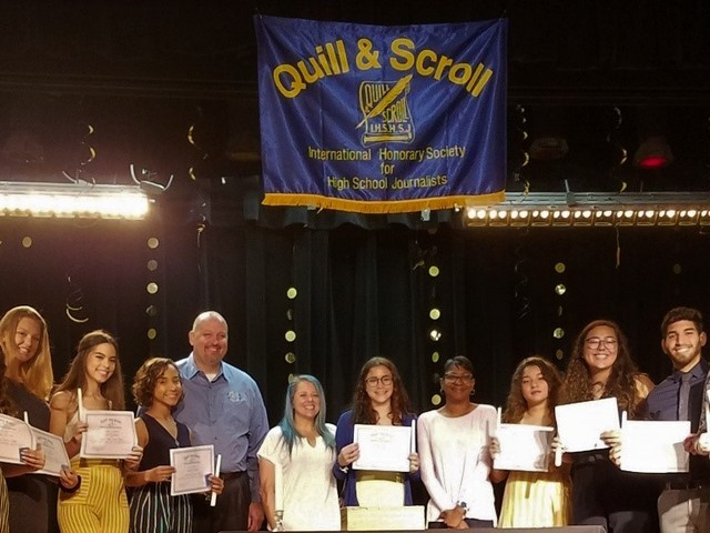 Cutler Bay High School inducts students into Quill and Scroll