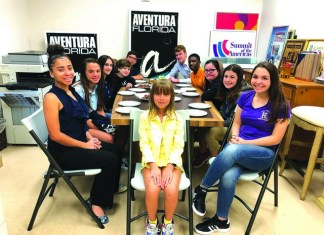 Students prepare to run Business Meeting