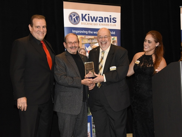 Members of the Williamson family honored by Biscayne Bay Kiwanis