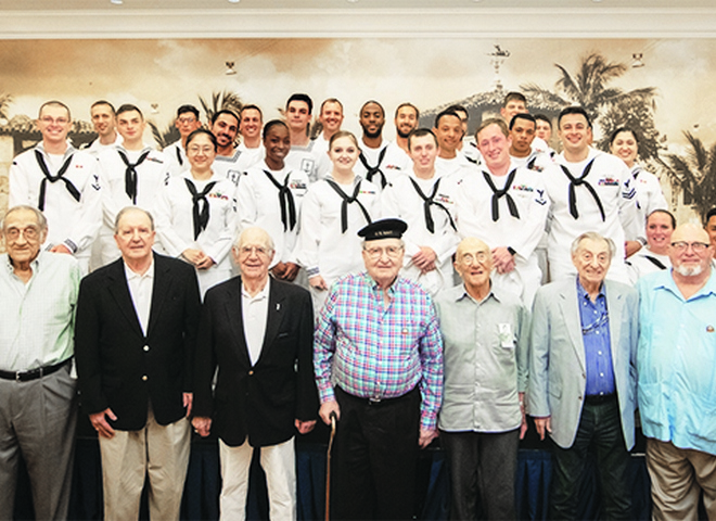 The Palace Coral Gables Hosts Navy Visit During Miami Navy Week