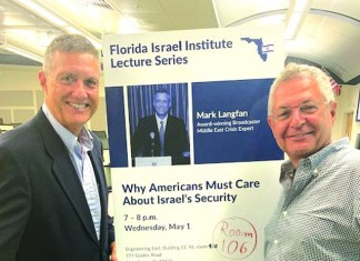 Mark Langfan, Middle East crisis expert, speaks at Florida Atlantic University