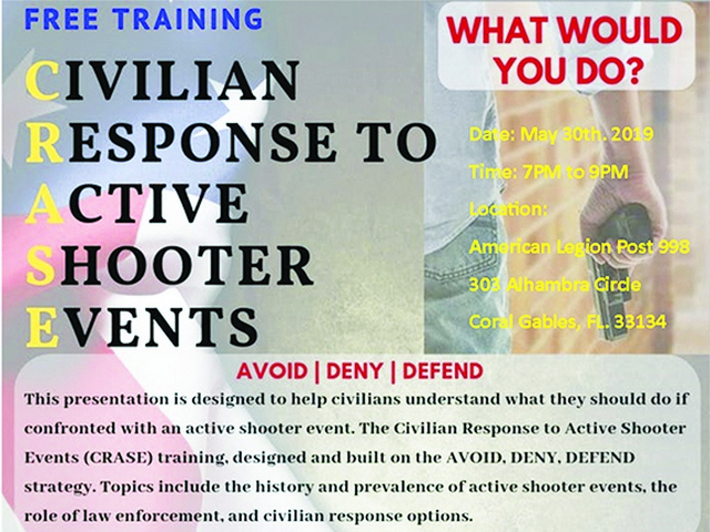 Plan to survive active shooter situations to be presented May 30