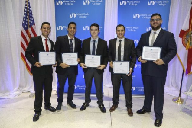 Five MDC aviation students awarded scholarships to continue flight training