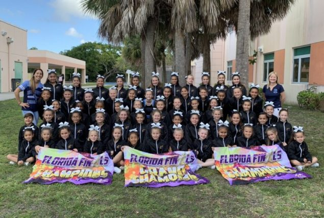 Coral Reef Elementary cheerleaders take first