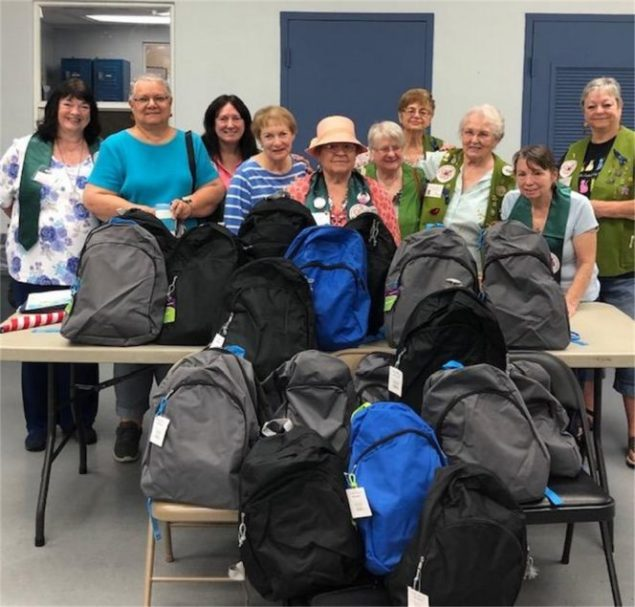 Cutler Ridge Woman's Club donates backpacks to homeless veterans