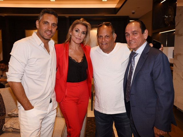 Pictured (l-r) are Mauricio Umansky, Sasha Ezquerra, Steven G and Henry Torres.