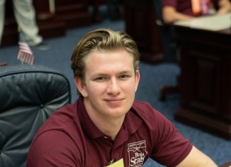 CBHS student Leyton Foxworthy participates in Florida Boys State
